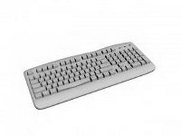 104-key Windows keyboard 3d model