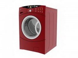 Red automatic washer 3d model
