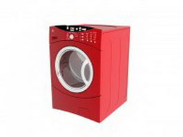 Clothes washer and dryer 3d model