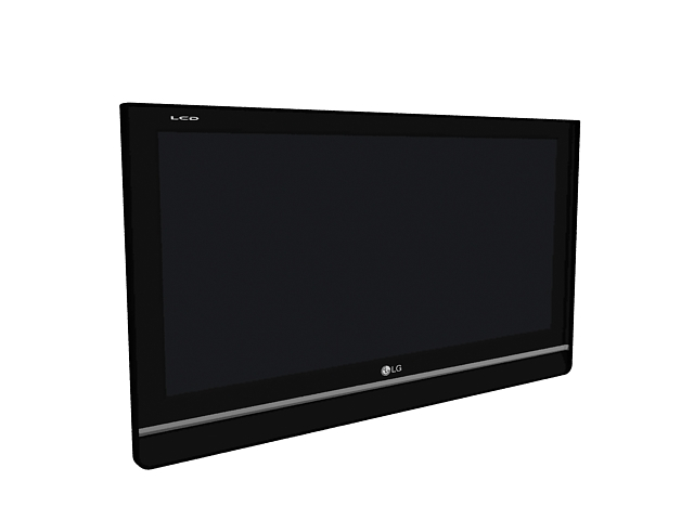 Lg Flat Screen Television 3d Model 3ds Max Files Free