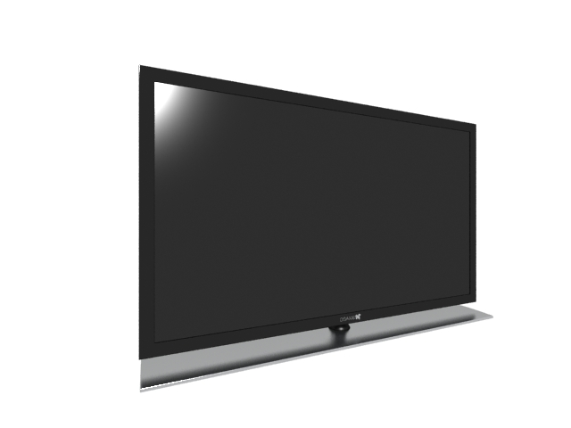 Flat Screen Television 3d Model 3ds Max Files Free