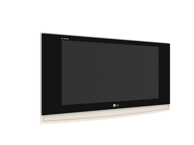 LG wall hung television 3d model