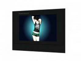 Wall hung flat screen tv 3d model