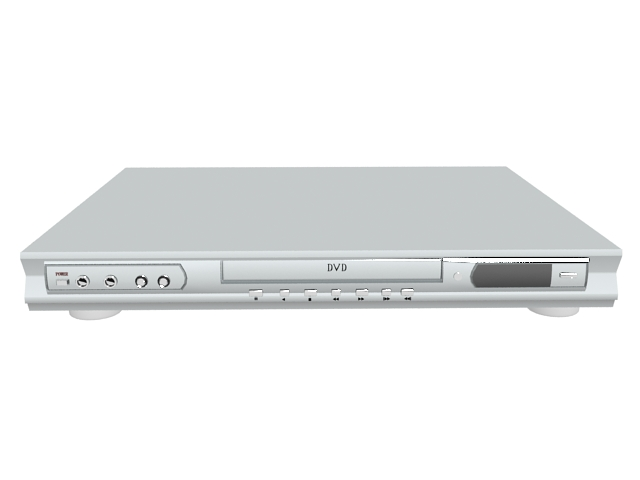 white dvd player 3d model 3ds max files free download modeling