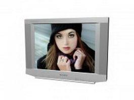 Sony Trinitron flat screen tv 3d model