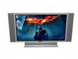 Sony flat screen tv 3d model