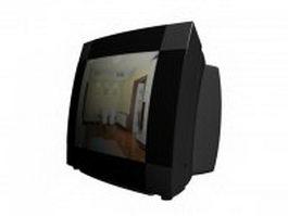 CRT TV set 3d model