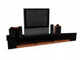 Transitional Home Theater 3d model