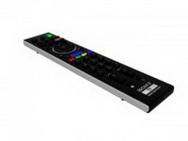 Sony TV remote control 3d model