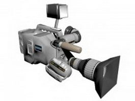 Professional-grade digital camcorder 3d model