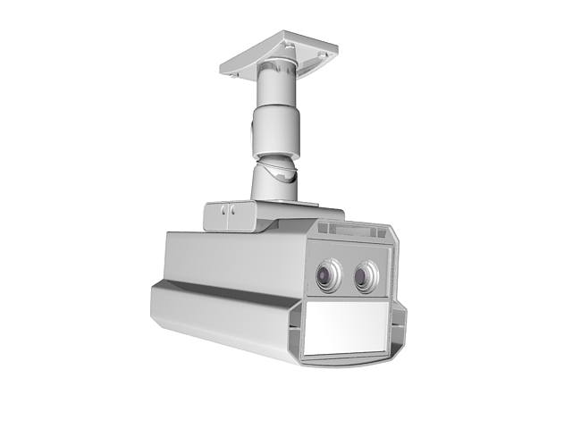 Ceiling mount security camera 3d model 3ds max files free
