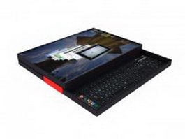 Early tablet laptop 3d model