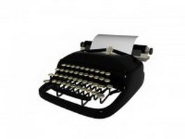 Mechanical desktop typewriter 3d model