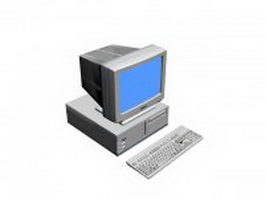 Early desktop computer 3d model
