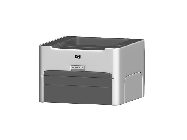 Hp laserjet 1320 printer 3d model 3ds max files free 3d printer models free