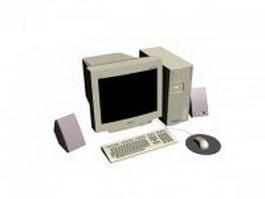 Multimedia computer system 3d model