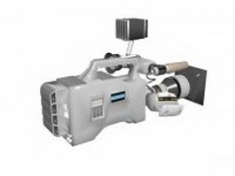 Professional video camera 3d model
