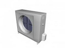 Outside unit of split air conditioner 3d model