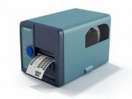Intermec RFID Barcode printer 3d model