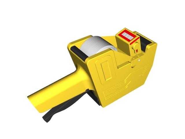 Portable barcode printer 3d model 3D Studio,3ds max,Cinema