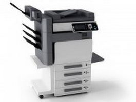 Multifunction photocopier machine 3d model
