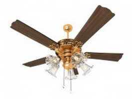 Classic ceiling fan light 3d model