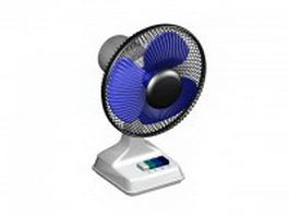 Electric desk fan 3d model
