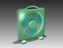 Plastic desk fan 3d model