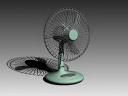 Vintage desk fan 3d model