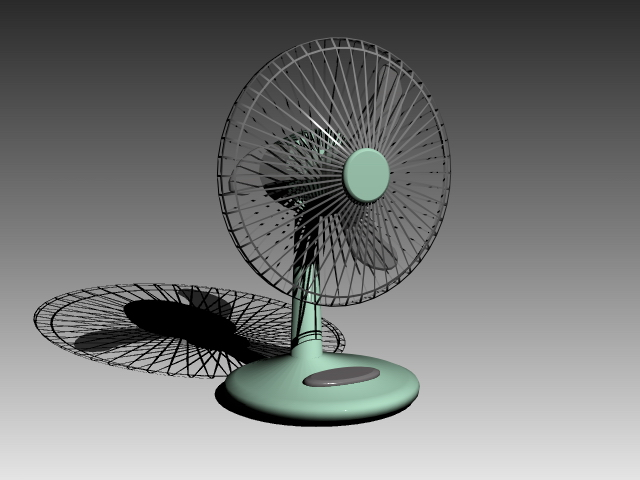 Vintage Desk Fan 3d Model 3d Studio 3ds Max Autocad