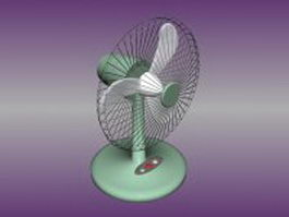 Desk and table fan 3d model