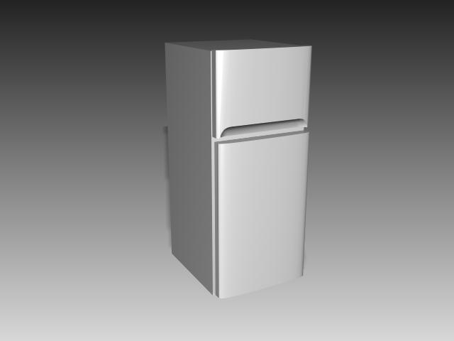 Double Door Refrigerator 3d Model 3d Studio 3ds Max