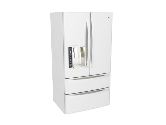 french refrigerator the white ice site door thru lg water sa ft and cu p with