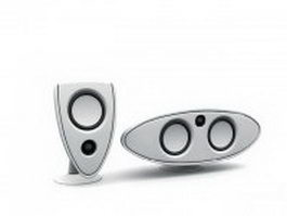 Desktop computer speakers 3d model
