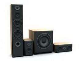 Home cinema speaker system 3d model