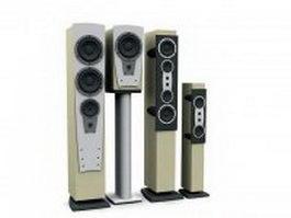Home speaker towers 3d model