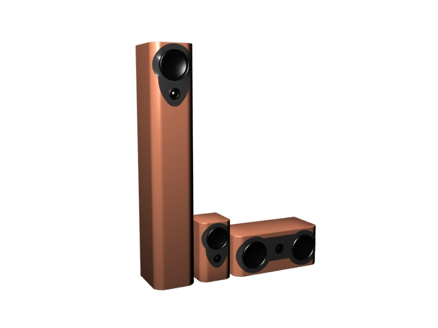 Audio speaker box 3d rendering