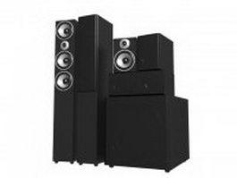 Surround sound speaker system 3d model