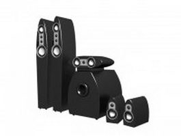 Home theatre surround sound system 3d model