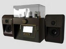 Vintage audio system 3d model