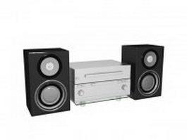 Audio speaker and amplifier 3d model