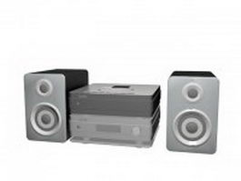Home theatre sound system 3d model