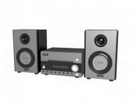 Hi-Fi sound system 3d model