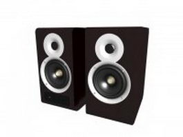 Desktop wood speakers 3d model