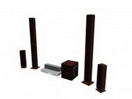 Home theatre audio system 3d model