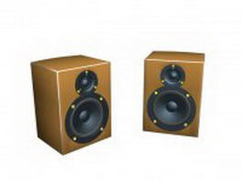 Yellow speakers 3d model