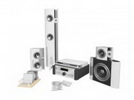 Modern home theatre sound system 3d model