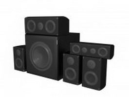 DJ speakers system 3d model