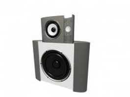 Fashion speaker with subwoofer 3d model