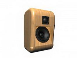 Vintage wood speaker 3d model